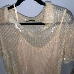 Zara sequined shirt